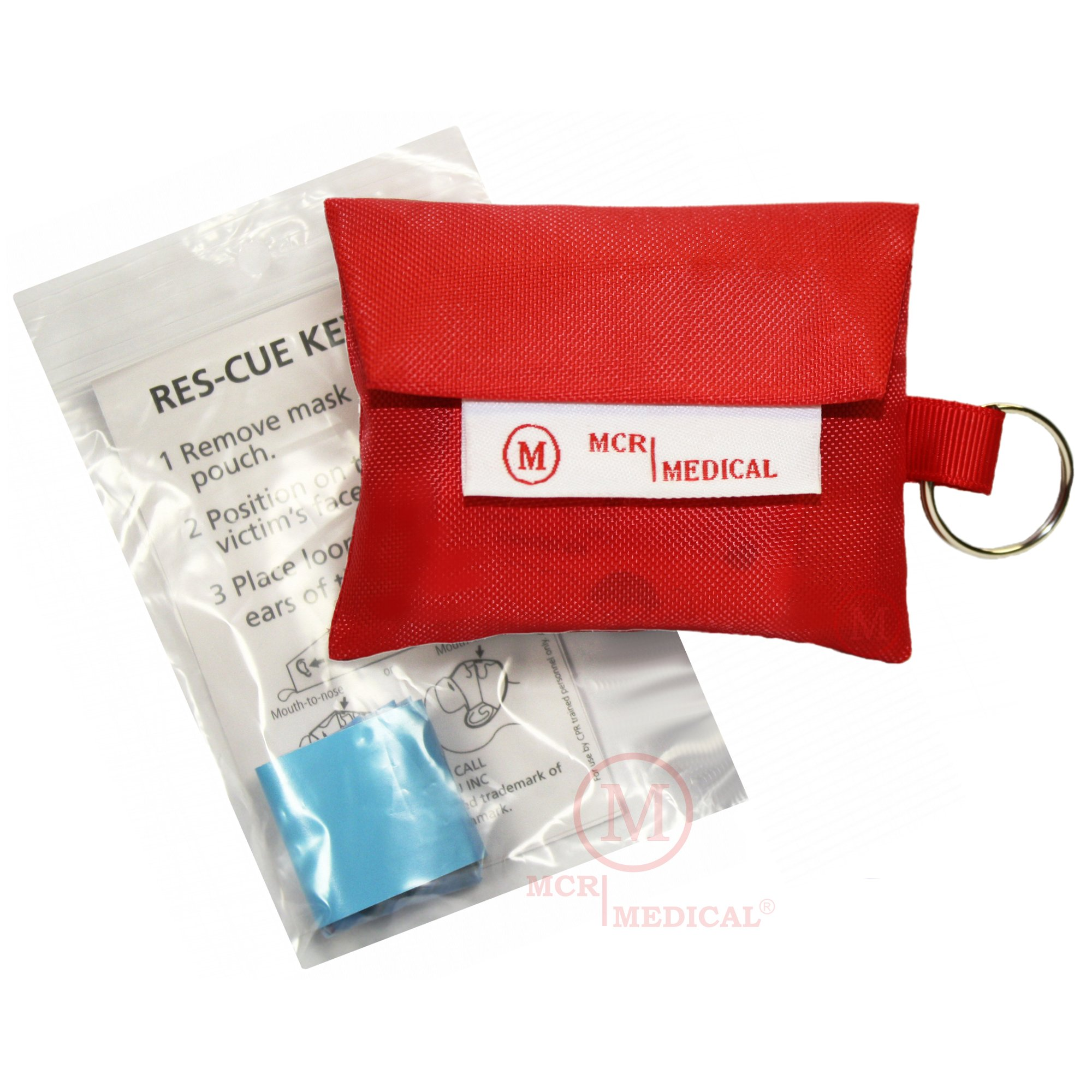 CPR Mask Keychains (Pack of 50), MCR Medical