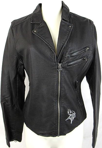 buy popular 61dc9 8510d Amazon.com : Womens Touch Minnesota Vikings Side Zip Faux ...