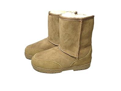 f2a63baa3bbe Sheepland Genuine Twin Face Sheepskin Short Boots (22cm)  Amazon.co ...