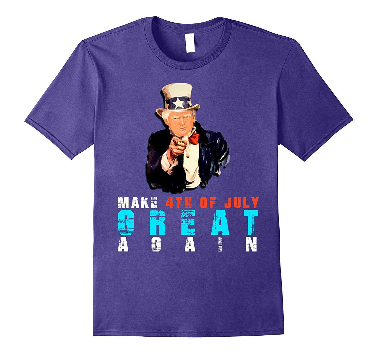 Officialmake 4th of july great again t-shirt Uncle Trump-PL