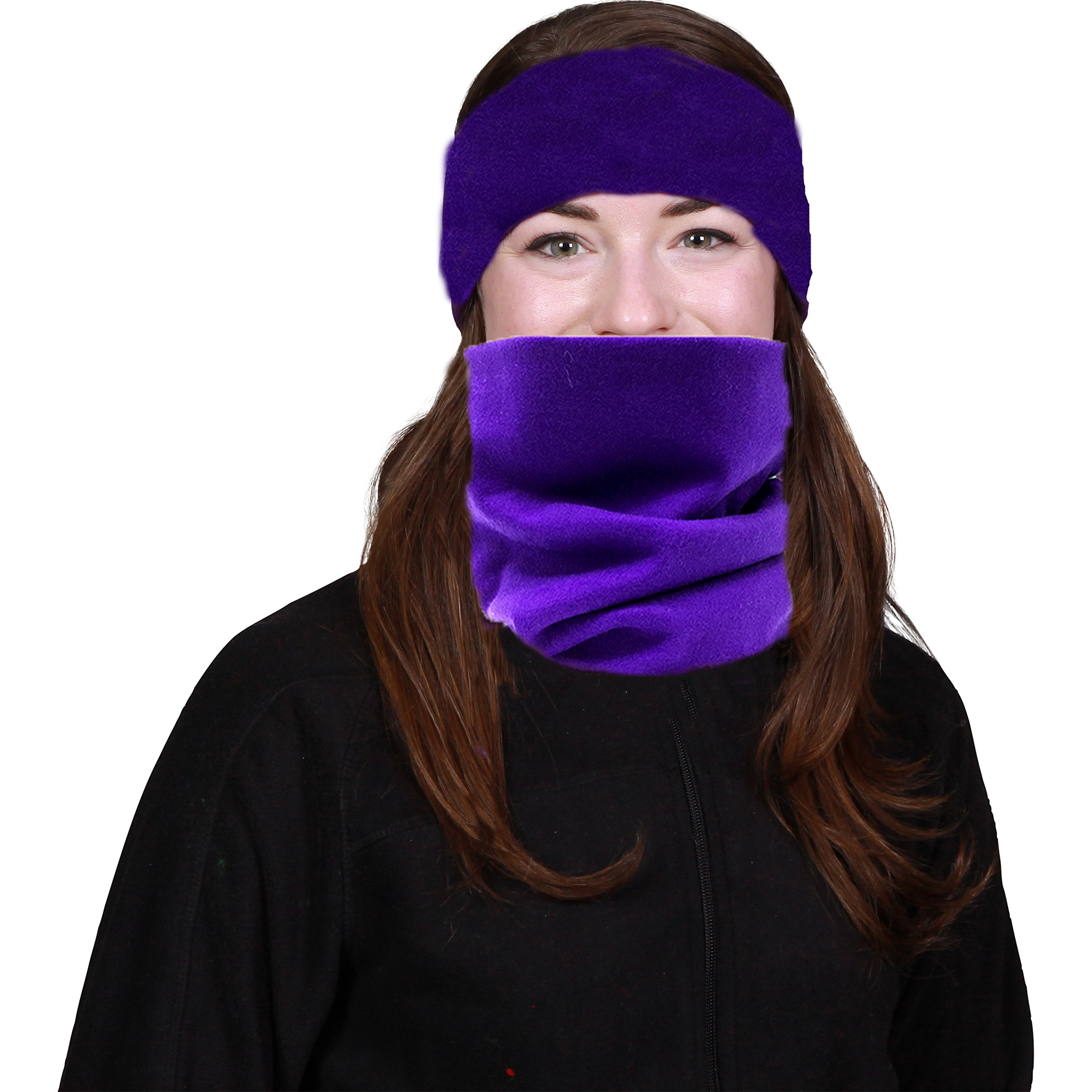3-in-1 Neck Warmer Face Mask & Headband/Hat (2-Pack)