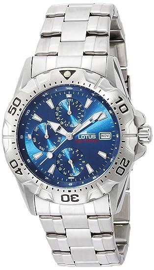 comprar online 276d7 e7fd9 Lotus Reloj Analógico para Hombre de Cuarzo con Correa en Acero Inoxidable  15301/2