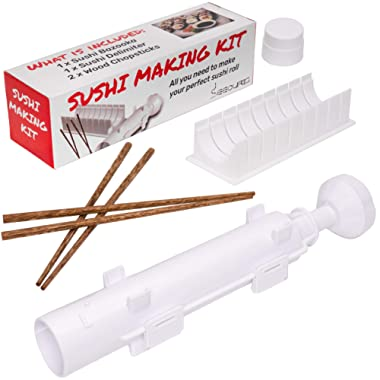 Sushi Bazooka Roller and Sushi Slicer , All in One Sushi Making Kit - Kitchen Appliance for perfect Sushi Roll