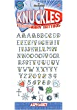 Tinsley Transfers Knuckle Alphabet Temporary Tattoos Standard