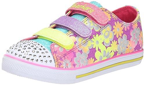 Skechers Chit Chat-Glint & Gleam, Zapatillas de Deporte para Niñas, PRMT,