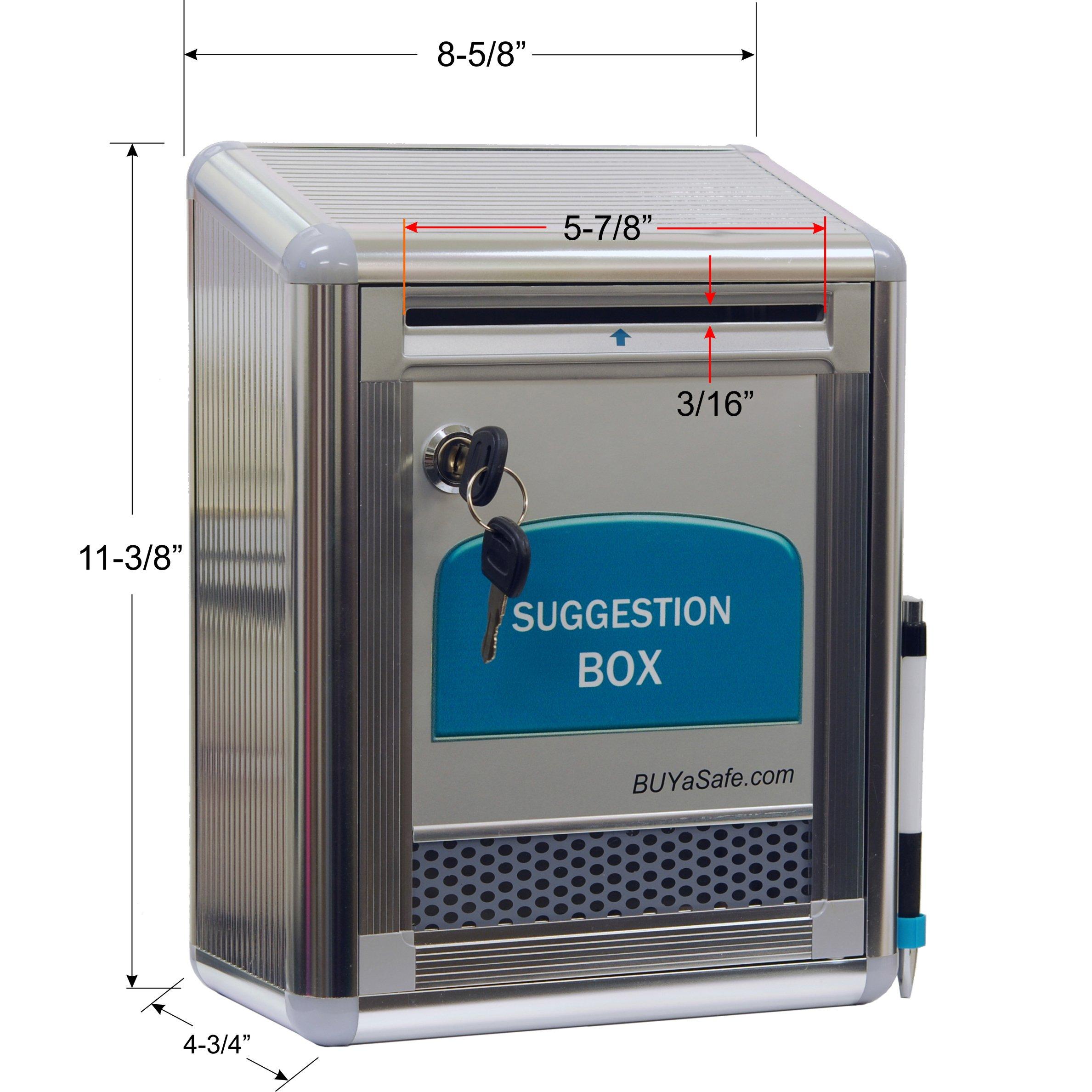 BUYaSafe G-B09 Aluminum Suggestion Box by BUYaSafe