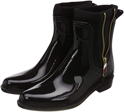 quality design 2c288 baaa9 Tommy Hilfiger Damen Material Mix Rain Boot Gummistiefel