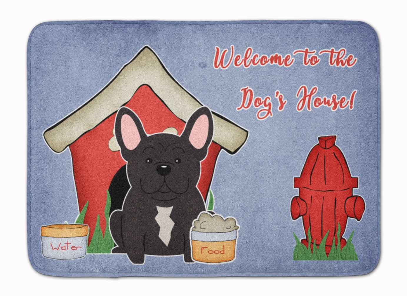 Carolines Treasures French Bulldog Welcome Floor Mat 19 x 27 Multicolor