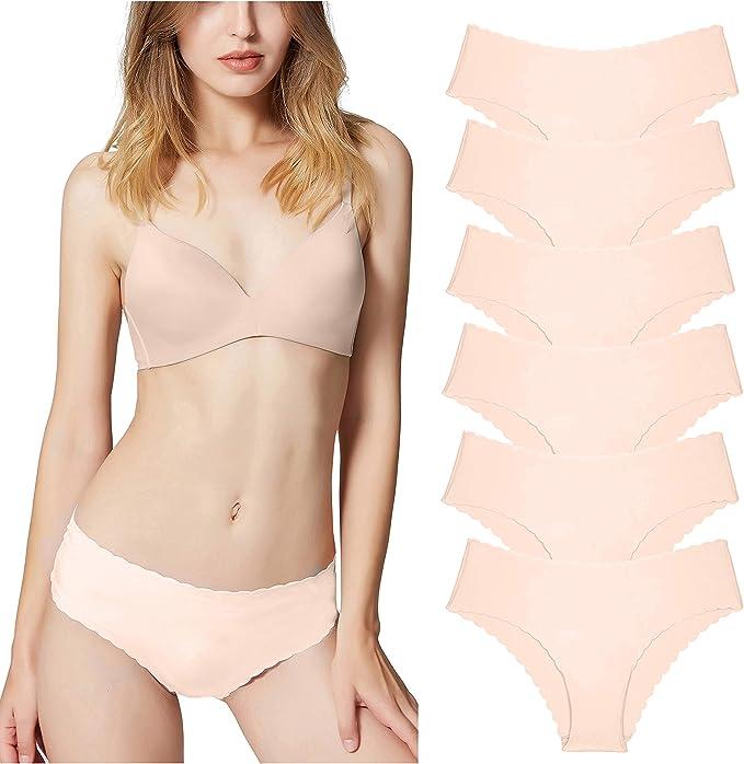 Bragas de Mujer sin Costuras Señoras Ropa Interior Secret Hug Sexy Low Rise Bikini Bragas, Pack de 3/6: Amazon.es: Ropa y accesorios