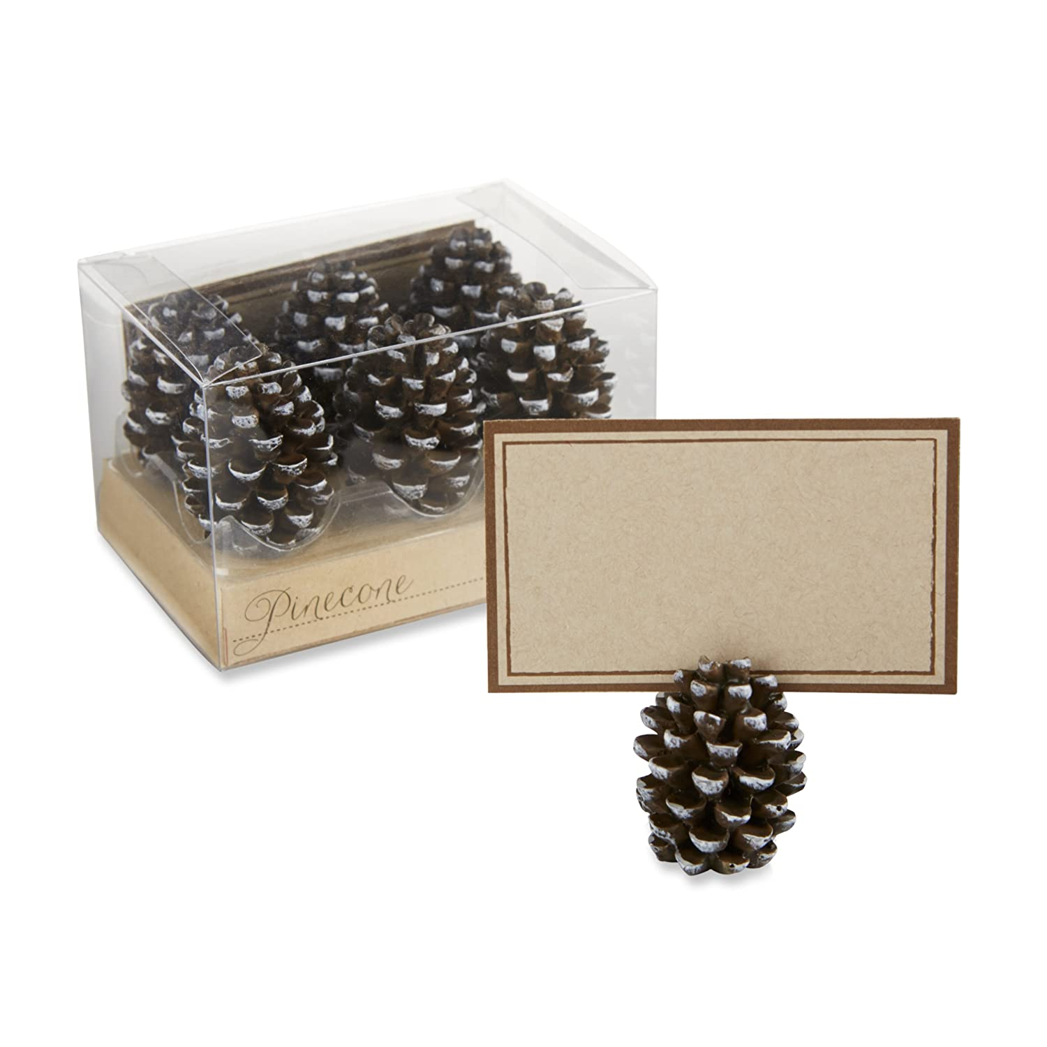 Kate Aspen Pinecone Place Card/Photo Holders, Set of 6 25119NA
