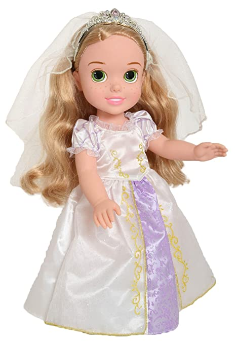 Amazon.com: Disney Princess Rapunzel\'s Wedding Dress Toddler Doll ...