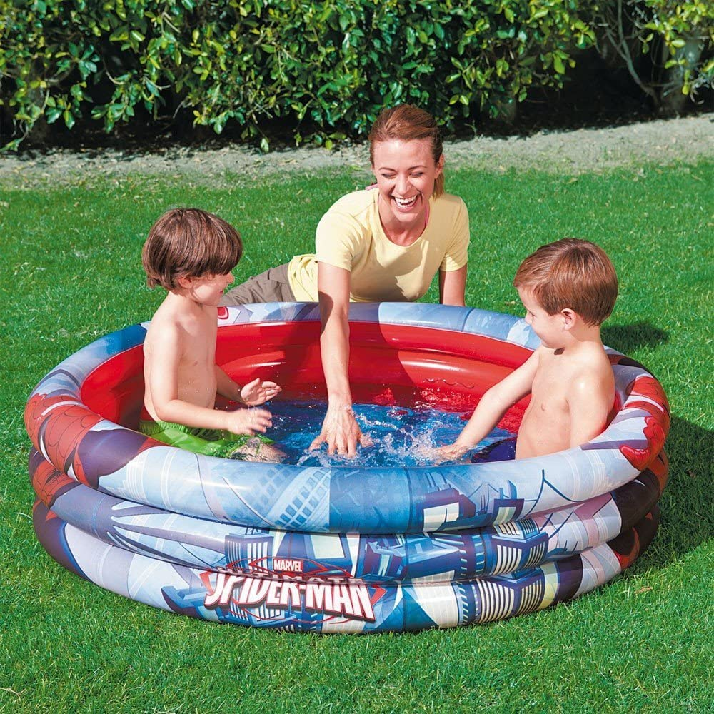98018 piscina inflable de 122 x 30 cm Bestway Spiderman 3 anillos
