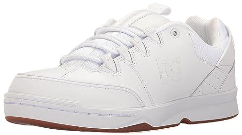 DC Men's Syntax Skateboarding Shoe, White/Gum, ...