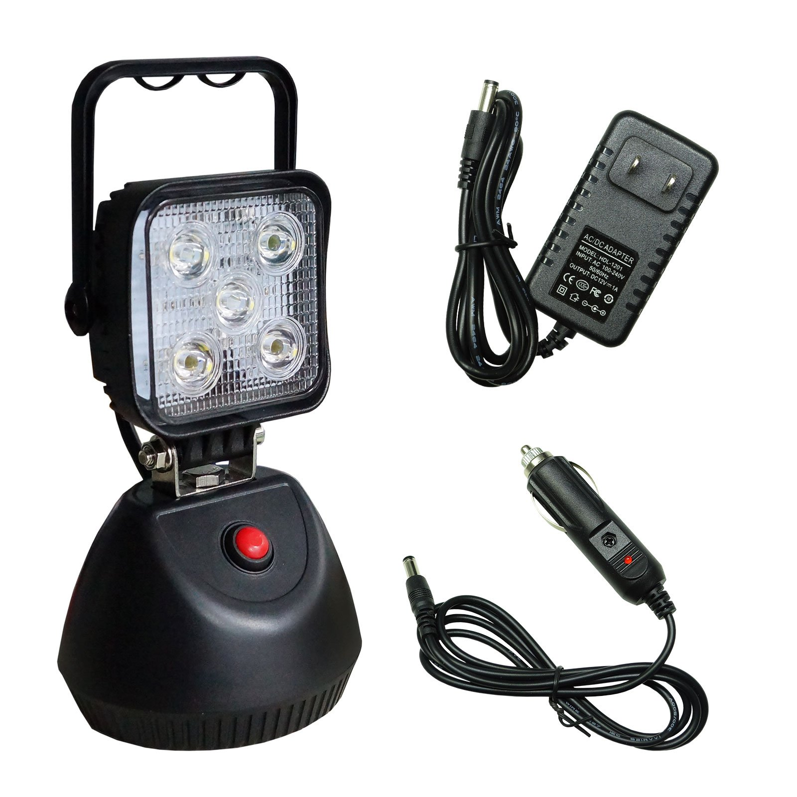 PA 1 Set Super Bright Version Multi-Functions LED Work Light Portable Rechargeable Magnetic Base 15W 1800LM