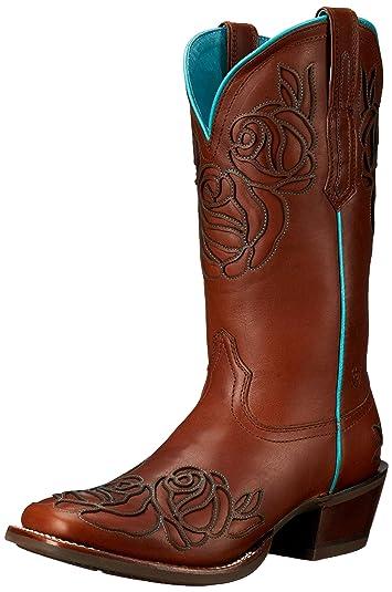 Amazon.com   Ariat Women's Dusty Rose Wide Square Toe Western ...