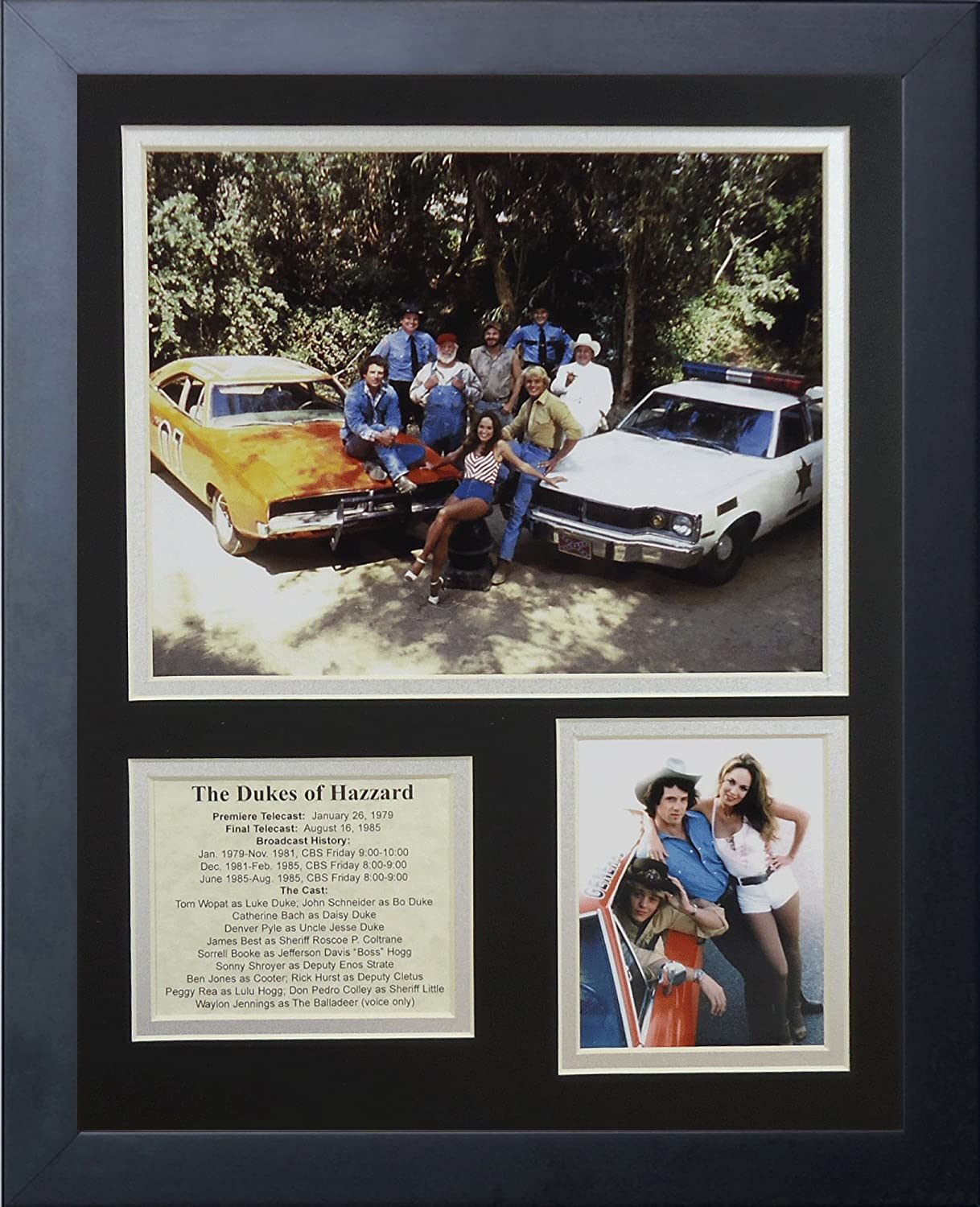 "The Dukes of Hazzard 11"" x 14"" Framed Photo Collage by Legends Never Die, Inc."