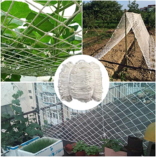 Netting Enrejado para Crecer Carpas Ventanas/Plantas Malla De Jardín Tarea Pesada Redes De Patio para Mascotas Red De Malla De Nylon Decoración Náutica Blanco 6mm/5cm (Size : 2x9m): Amazon.es: Jardín
