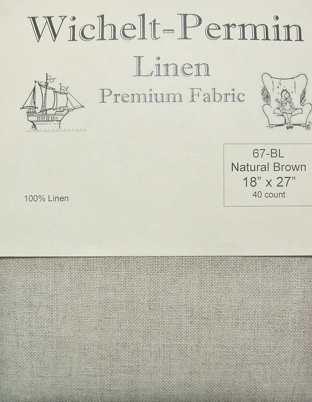 40ct Natural Brown Linen Ornament Fabric Cut