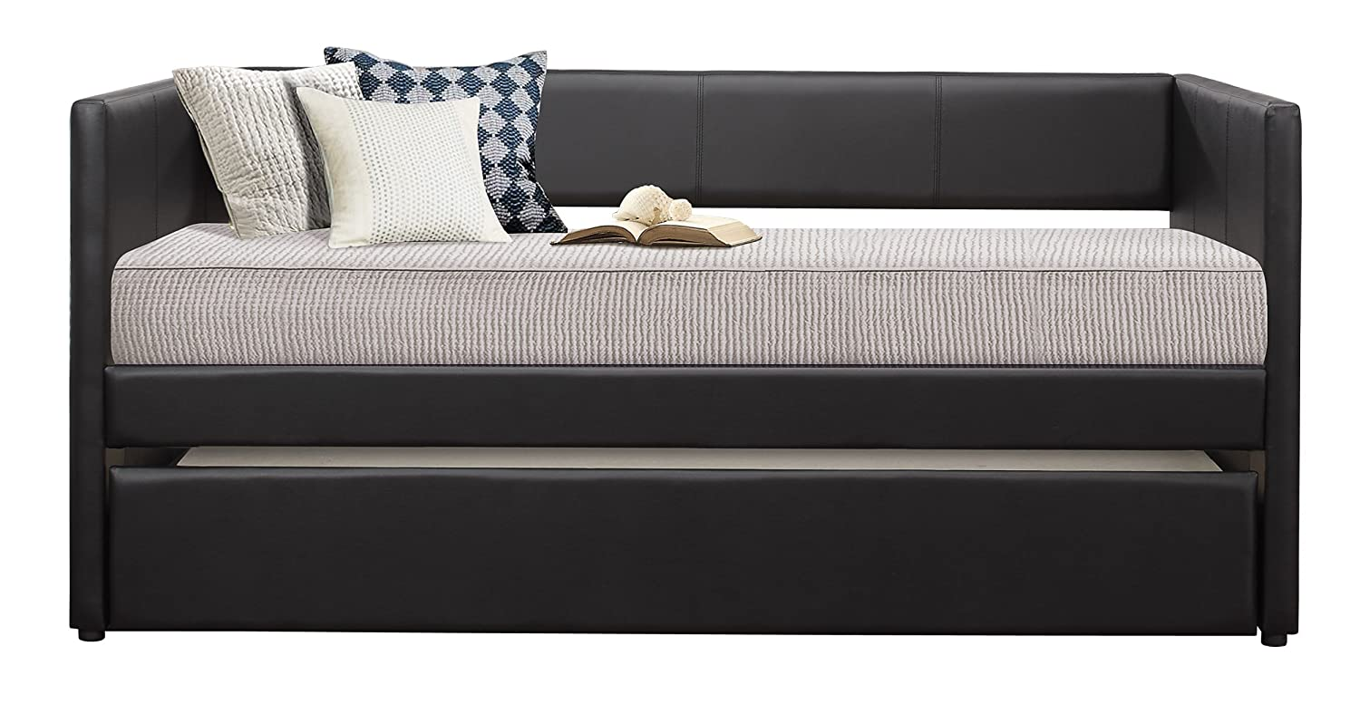 Amazon Com Homelegance Adra Fully Upholstered Daybed With Roll Out