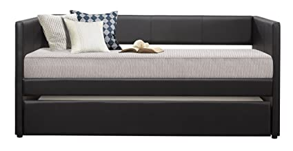 Amazoncom Homelegance Adra Fully Upholstered Daybed With Roll Out