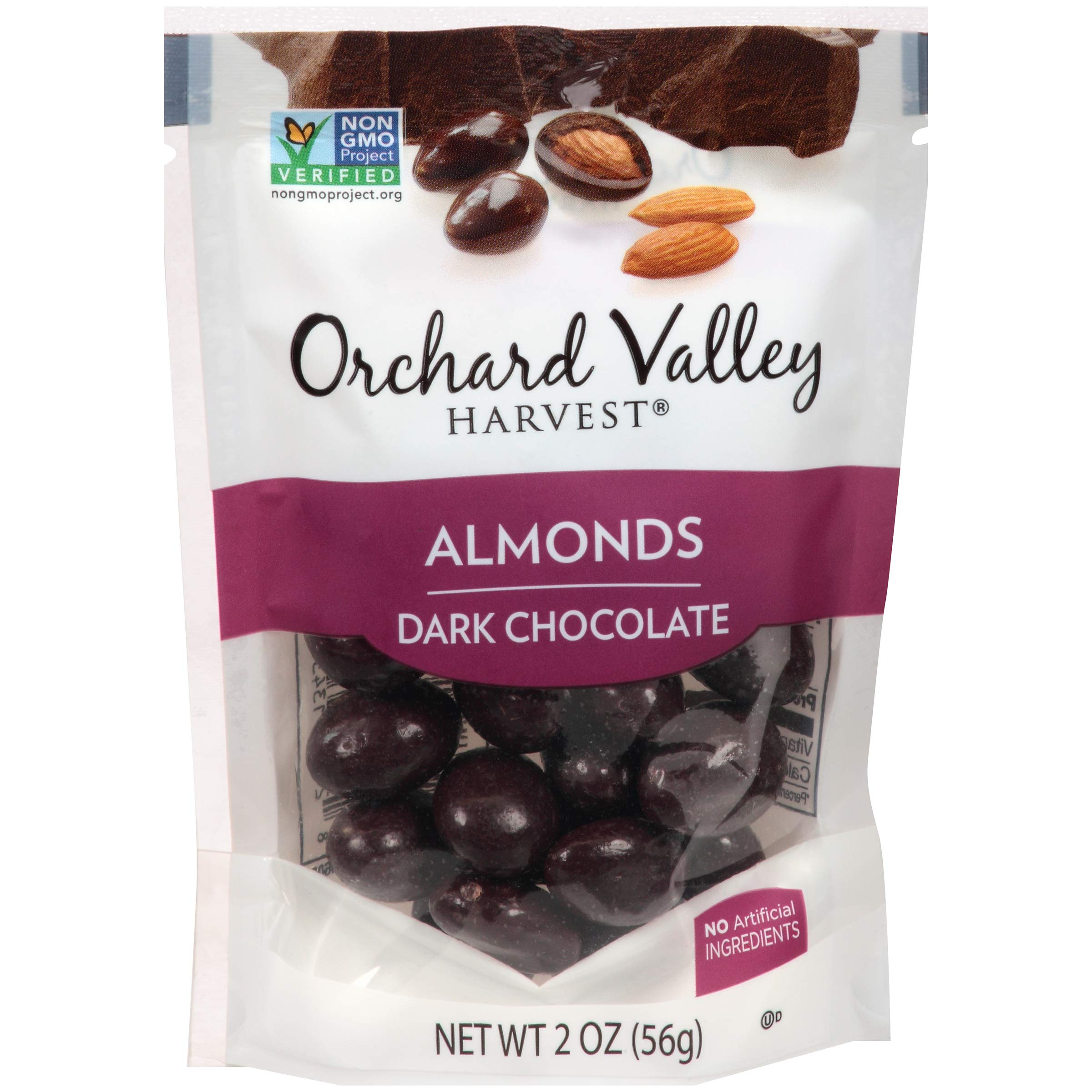 ORCHARD VALLEY HARVEST DARK CHOCOLATE ALMONDS 30 PACK OF 2 OUNCES