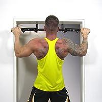 JOM Türreck, Klimmzugstange, Trainings Gerät für Türrahmen, bis 130 kg belastbar, inkl. Schlaufen