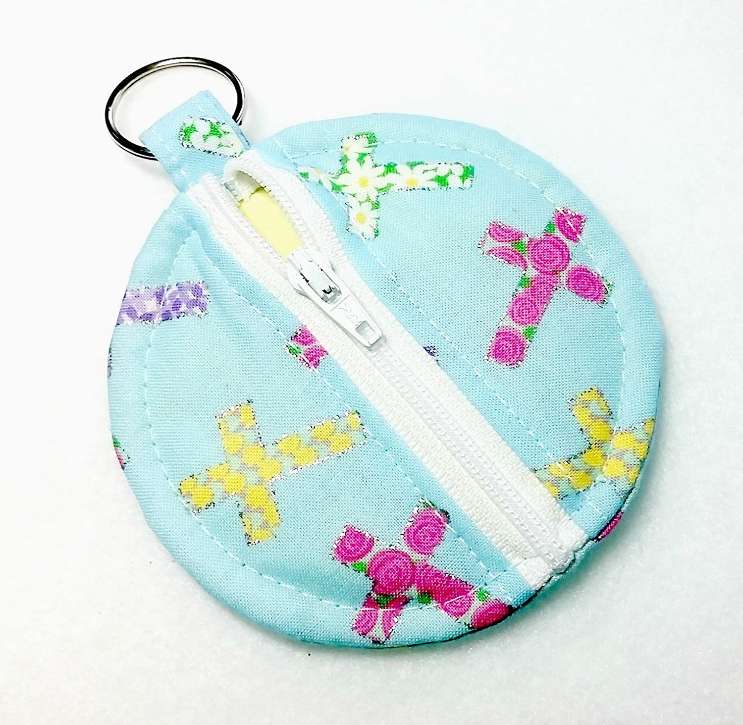Pastel Crosses Earbud Zippered Pouch