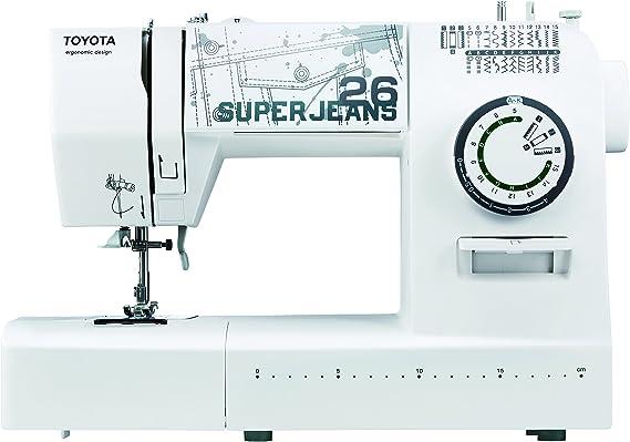 Toyota máquina de Coser, plástico, Blanco, 19,8 x 41 x 29,4 cm: Amazon.es: Hogar