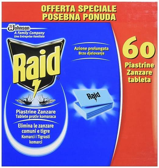 10 opinioni per Raid Piastrine Zanzare Ricarica- 60 Pezzi