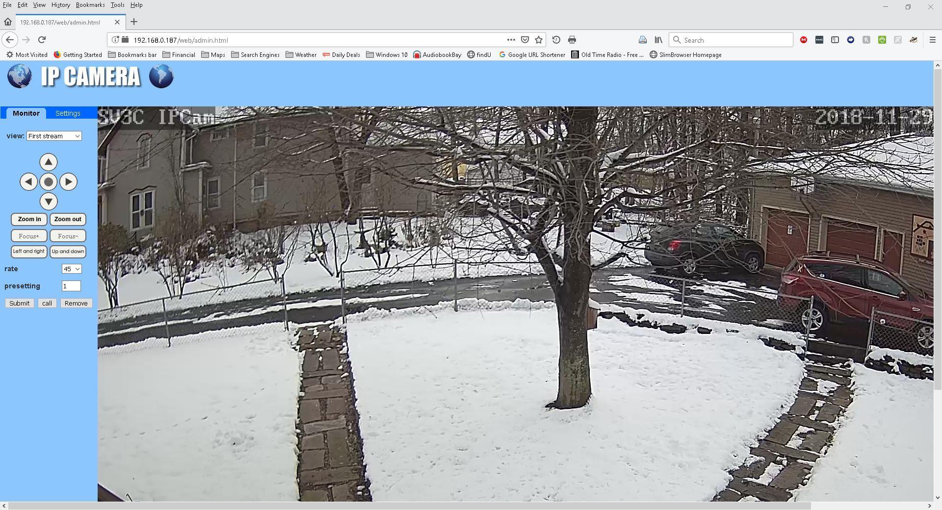 SV3C 1080P Outdoor PTZ WiFi Security Camera,Pan Tilt Zoom