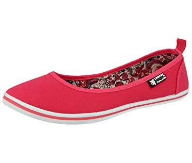 e0aad3f9052 Ladies Canvas Slip On Geotex Memory Foam Flexible Comfort Lightweight  Ballet Pumps Dolly Shoes Size 3