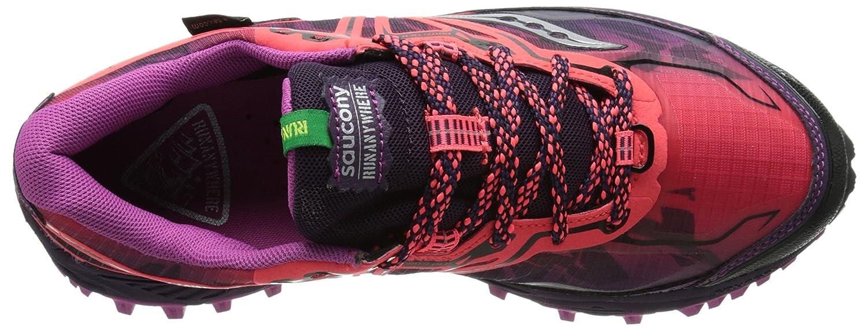 Saucony Women's Xodus 6.0 GTX Trail Running Shoe B00PJ8USMI 8 B(M) US Coral/Purple