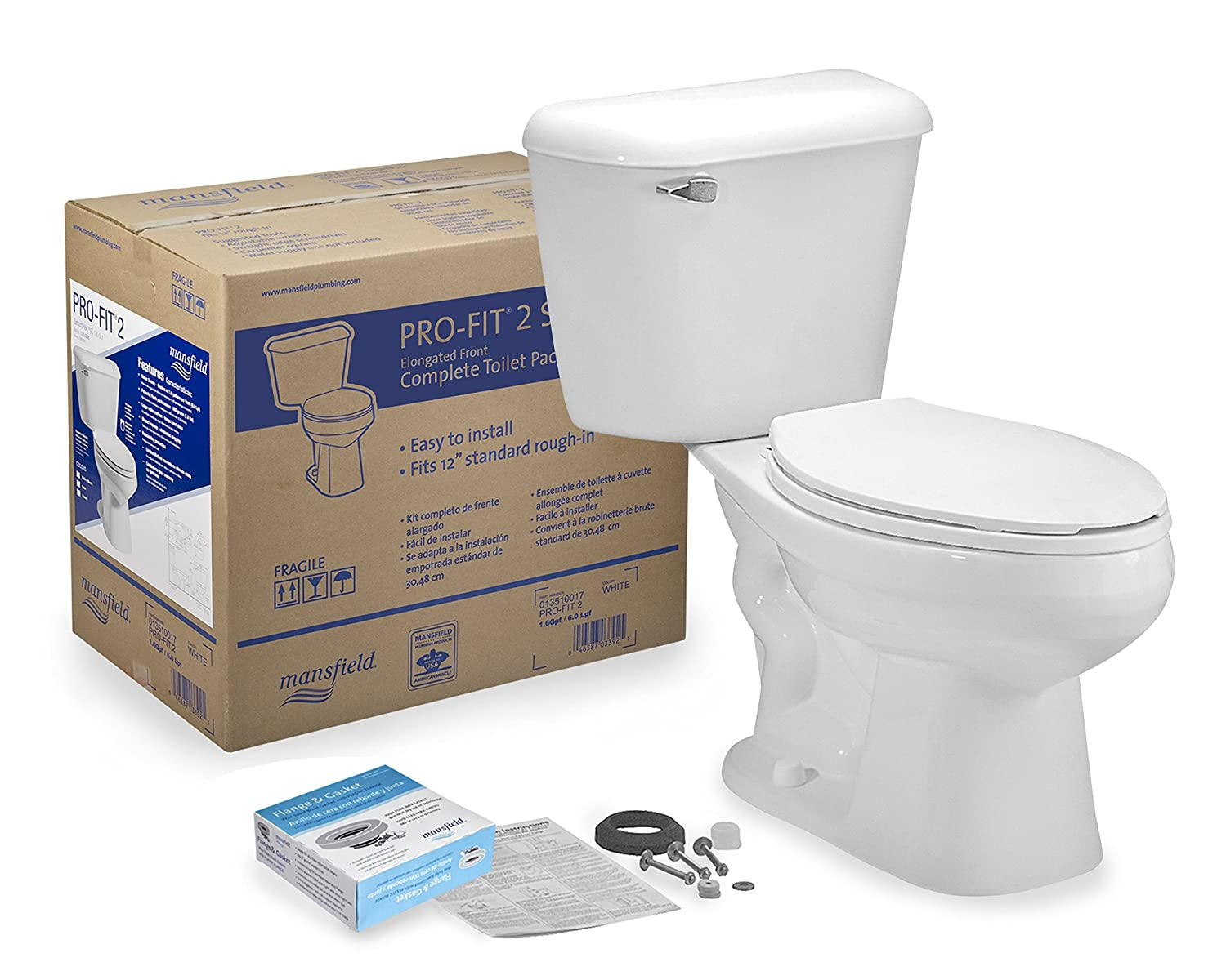 mansfield plumbing products 135ctk profit2 toilet bx kit two piece toilets amazoncom