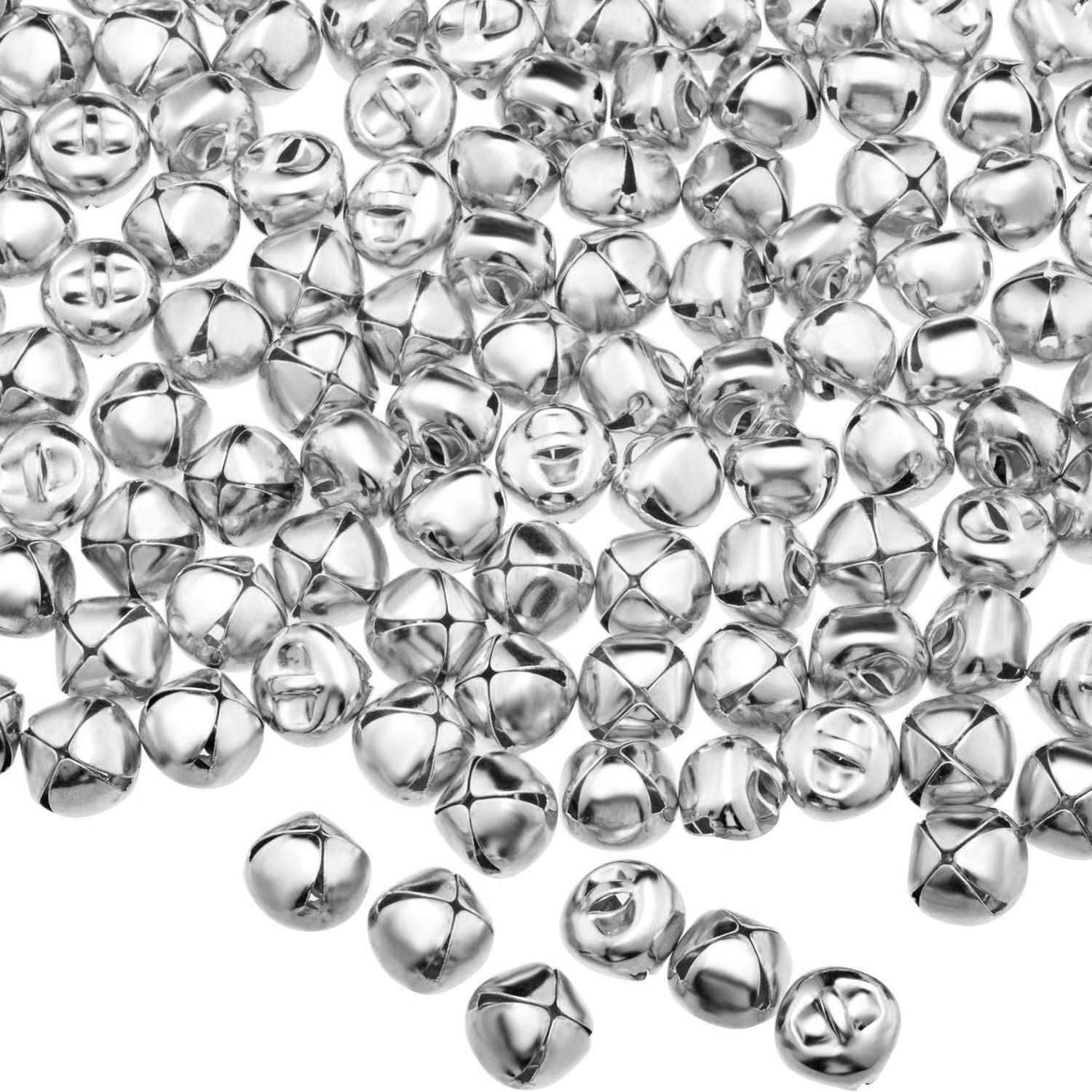 Craft and Favor Decorationg-300 Pieces Envysun 1//2 Inch Craft Bells Silver Jingle Bells Set for Kids