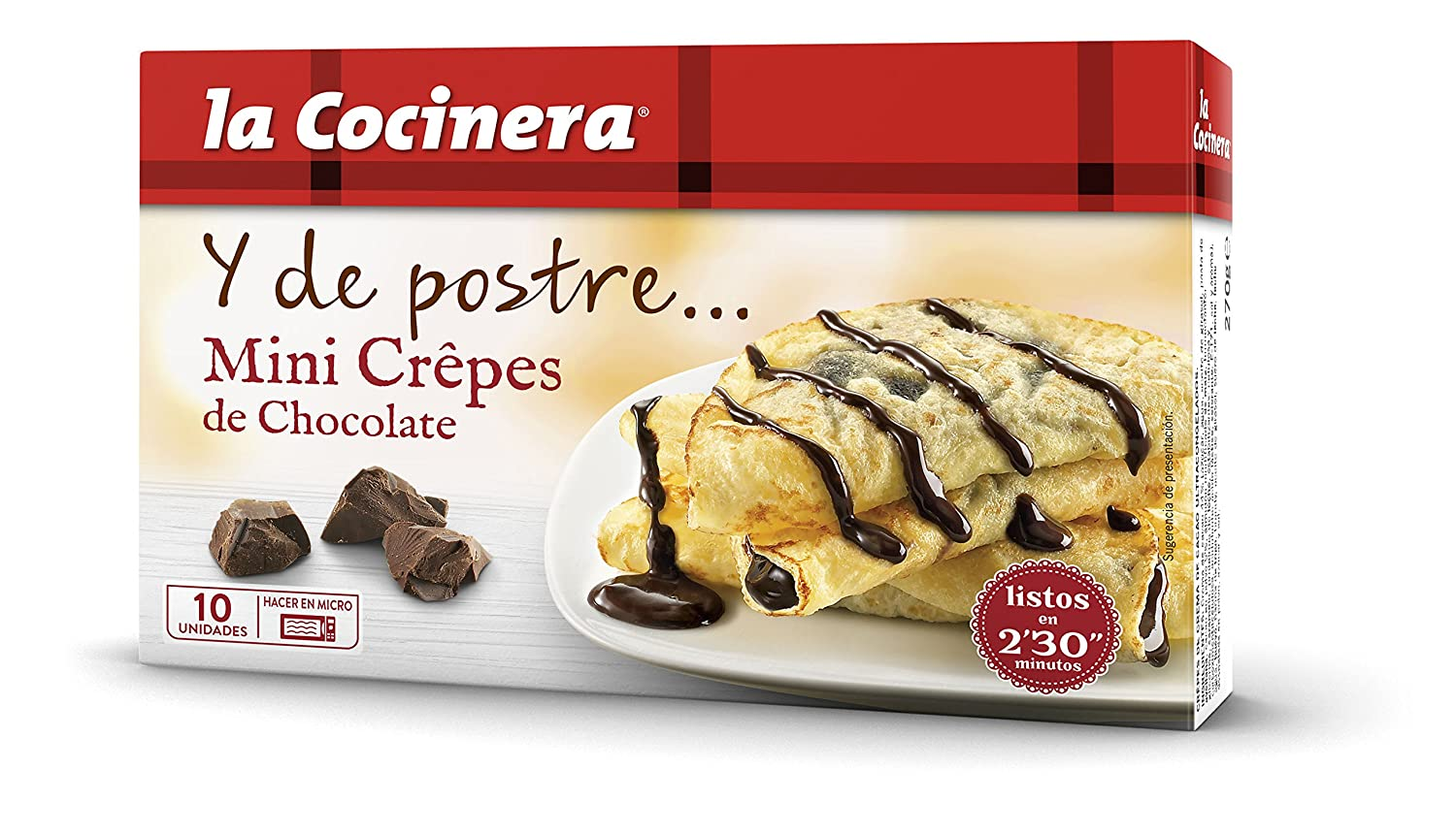La Cocinera Mini Crepe de Chocolate - 270 gr: Amazon.es ...