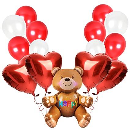 Amazoncom Happy Valentines Day Balloons Bouquet Decorations In