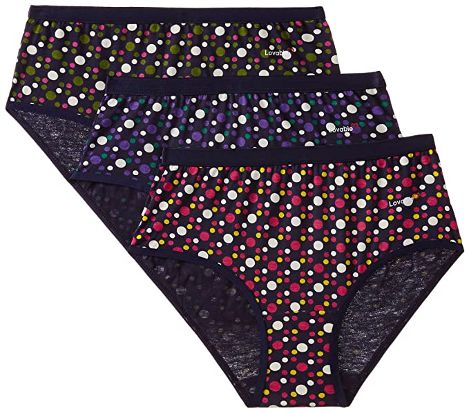 38e0b44a4325 Image Unavailable. Image not available for. Colour: Lovable Women's Multi-Color  Hipster (Pack of 3 ...