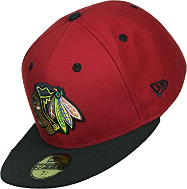 check out 339e0 c34d0 New Era Nhl Team Classic Chicago Blackhawks Otc - Cap for Man, color Black,