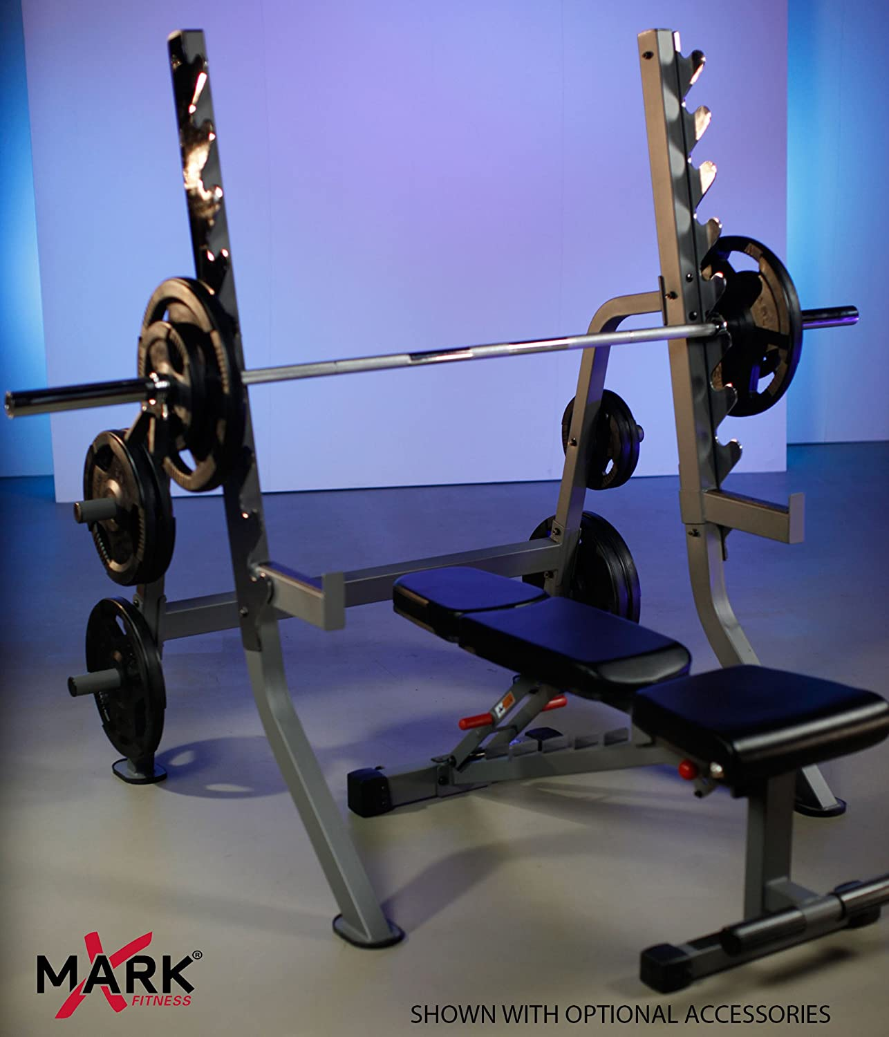powerrack fincl set power package light squat press weight olympic bench commercial wht deal adjustable rack