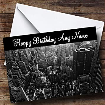 New York America Usa Personalised Birthday Card