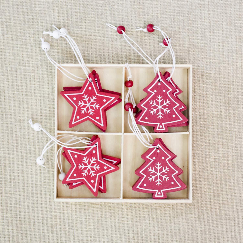 De feuilles No/ël D/écoration Sapins Motif Imprim/é Neige /étoile pour D/éco Soir/ée Arbre de No/ël