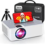 """1080P HD Projector, WiFi Projector Bluetooth Projector, FANGOR 230"""" Portable Movie Projector with Tripod, Home Theater Video"""
