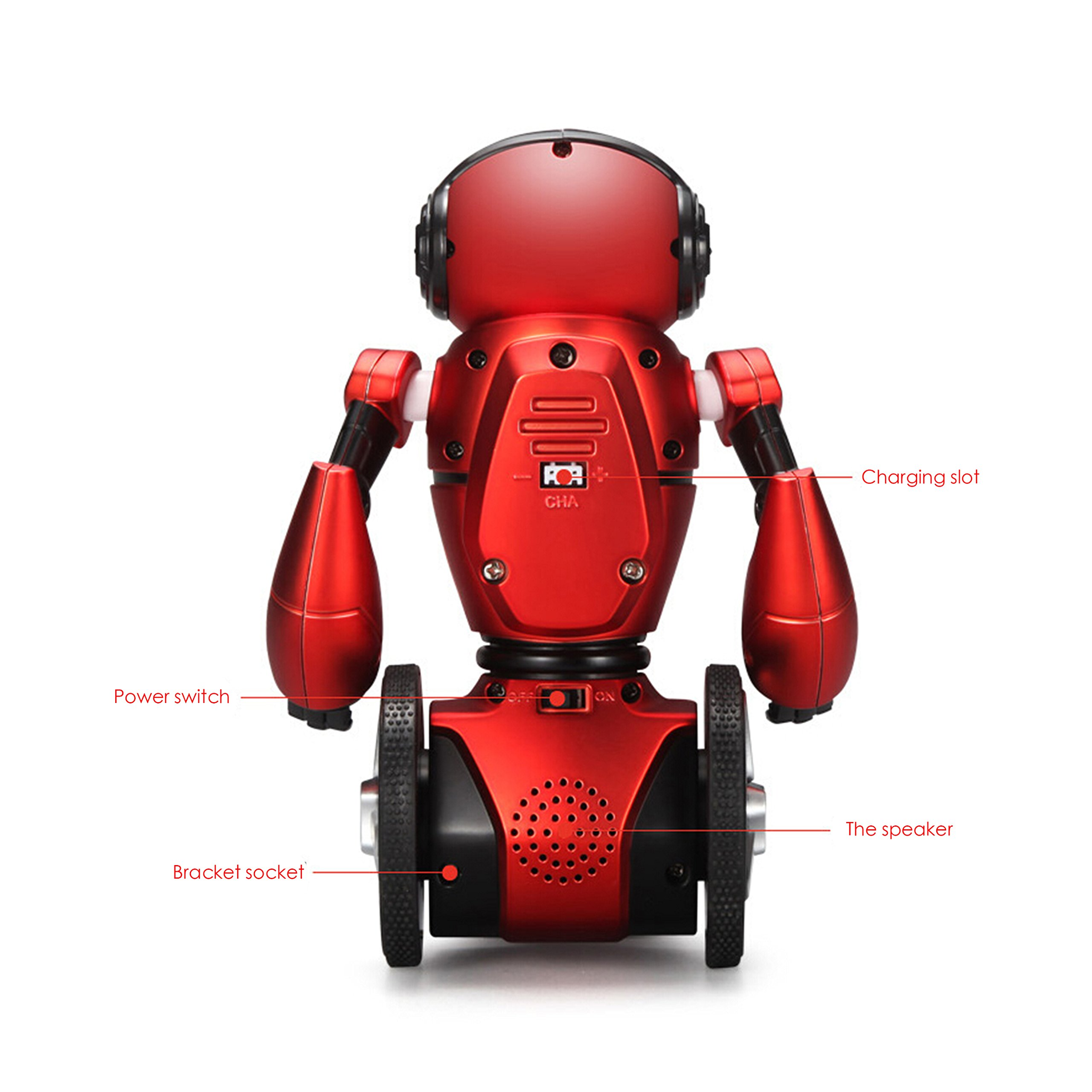 WLToys Intelligent Two Wheels Balance RC Robot Toy with Dance Music Avoidance Human-computer Interaction Mode for Children Kids as a Gift *Colors May Vary. by WLtoys (Image #6)