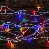 WISD Batterie Exploité LED Guirlande Lumineuse 11.5M 100 LED Light pour la fete, Noël, Jardin, mariage - Coloré