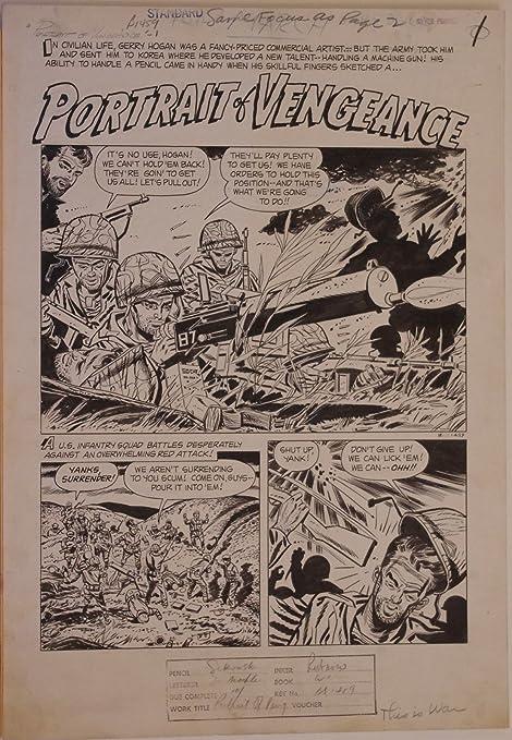 MIKE SEKOWSKY / AL RUBANO, original art, THIS IS WAR #8, pgs