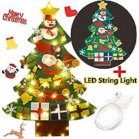 FunPa Felt Christmas Tree Set Decorazione della Parete Porta Fai da Te Decorazione di Natale con Ornamenti