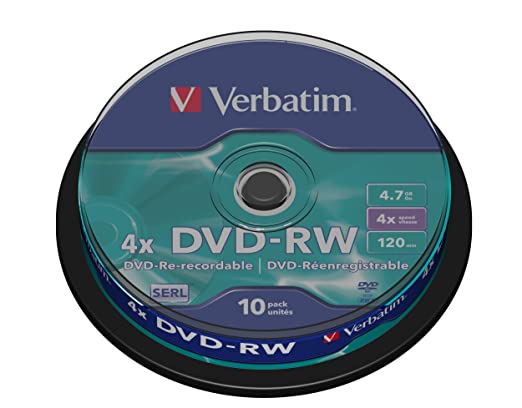 61 opinioni per Verbatim 43552 DVD-RW, 4.7 Gb, 4x, Spindle, 10 Pezzi