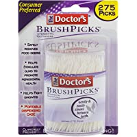 The Doctor's BrushPicks | Interdental Toothpicks | 275 Count | Pack of 4 | Safely Removes Food Debris