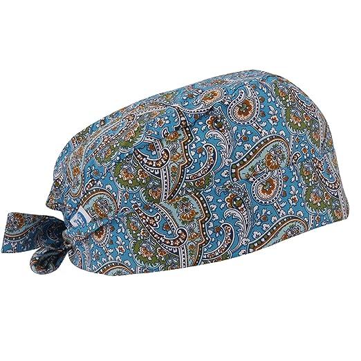 856c7240b32 GUOER Scrub Hat Calabash Hat Scrub Cap Calabash Scrub Hat One Size Multiple  Colors (Blue01