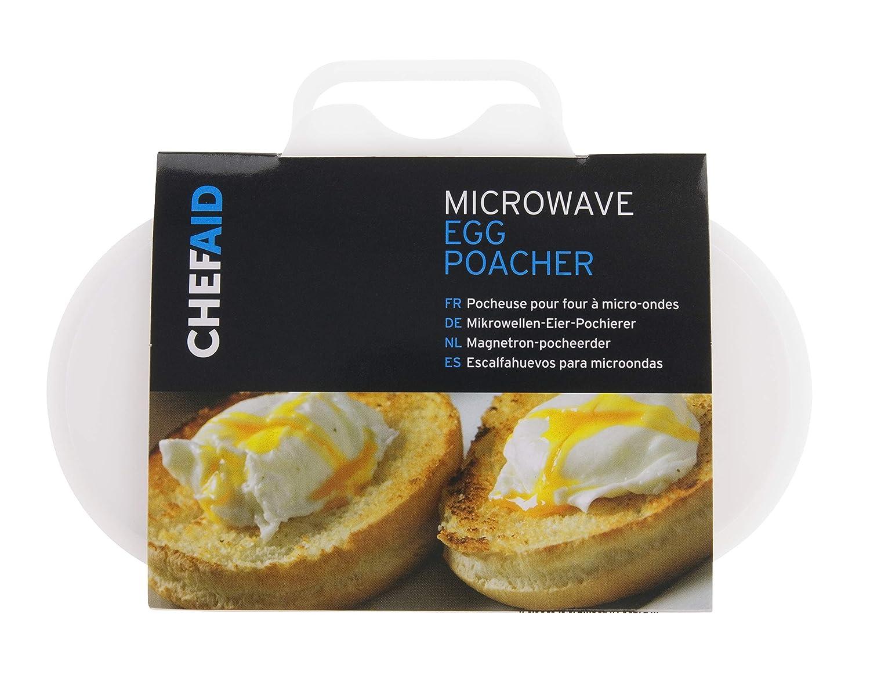 Chef Aid - Escalfador de Huevos para microondas: Amazon.es ...